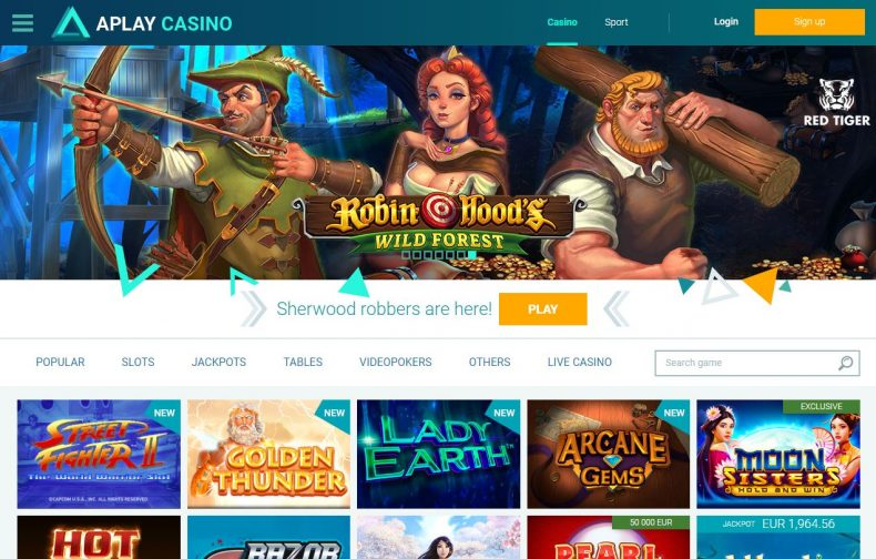 games and software at Aplay Casino