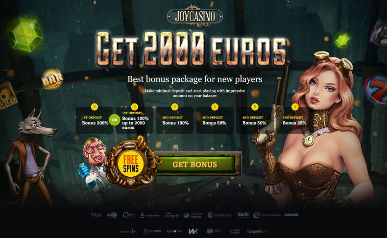 bonus policy in Joy Casino